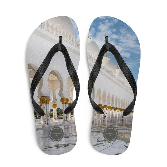 Exterior Of Mosque Theraphina Logo Flip-Flops
