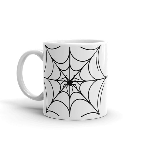 Large Spiderweb with Spider in the Middle Halloween Mug For Him or Her