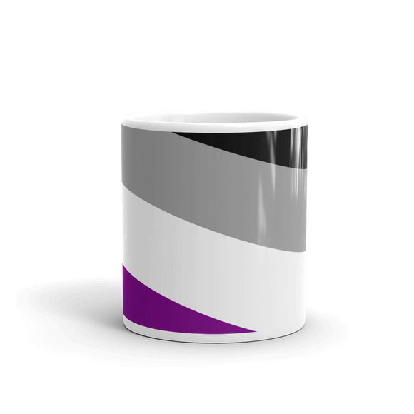 Asexual Pride Flag Wrap Around Design - Show Your Pride Mug For Him or Her