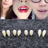 Vampire Teeth Fangs Halloween Accessory resin Halloween Costume Props Party 1 Pair 4 size Dentures Props Vampire Teeth Fangs