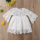 Family Matching Clothes Mother Daughter Dresses Women Floral Lace Dress Baby Girl Mini Dress Mom Baby Girl Party Clothes
