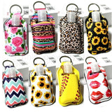 Hand Sanitizer Keychain Holder  with empty Travel Bottle For Hand Sanitizer Refillable Containers 30ml Flip Cap Reusable Bottles with Keychain Carrier