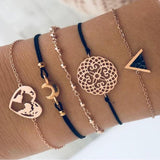 30 Different Styles Sold In Lots as shown Bohemian Bracelet Set For women Shell Star Map Lotus Pineapple Heart Natural stone Beads chains Bangle Boho Jewelry