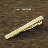 Classic Styling Tie Clip for Men Metal Gold Tone Simple Bar Clasp Practical Necktie Clasp Tie Pin for Mens Gift