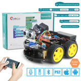 Remote Control Bluetooth Robotics Learning Kit Educational Stem Toys for Children Kid Emakefun For Arduino Robot 4WD Cars APP RC