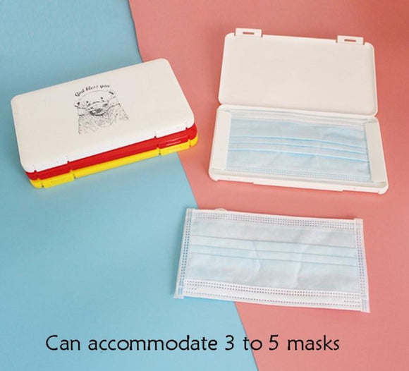 Portable Face Masks Organizer Dustproof and Moisture-Proof Cover Holder Mask Storage Seal Box Household Accessories
