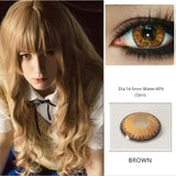 Colorful Contact Lenses 1 Pair Beautiful Pupil Eyes Cosmetic Halloween Cosplay Lenses Crazy Lens for Eyes For Photos & Videos