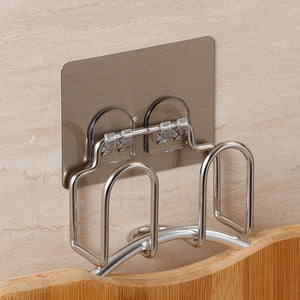 Wall Mounted Stainless Steel Pot Lid Holder Multi-function Cutting Board Pan Cover Sponge Holder Kitchen Cooker Stand