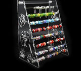 Pandora Beads Display Stand Clear Acrylic Rondelles Rack European Charms Beads Bracelet Jewelry Body Jewelry Ring Earrings Showcase