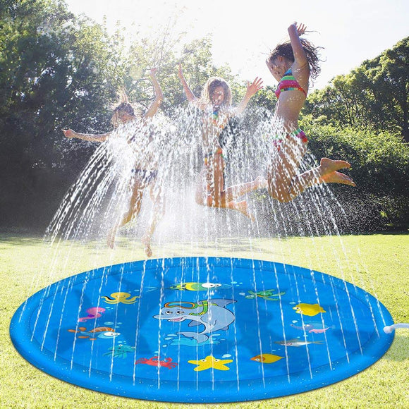 Inflatable At Home Spray Water Cushion Summer Kids Play Water Mat Lawn Games Pad Sprinkler Play Toys Outdoor Spray Pad Toy