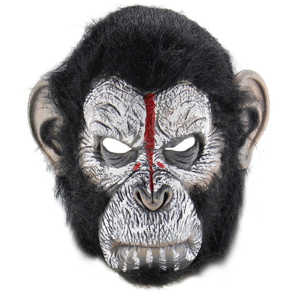 Scary Halloween Mask Horrific Prop for Videos or Halloween Party Trick or Treating Creepy Terrifying Man Ape Horror Cosplay Zombie Scary Mask