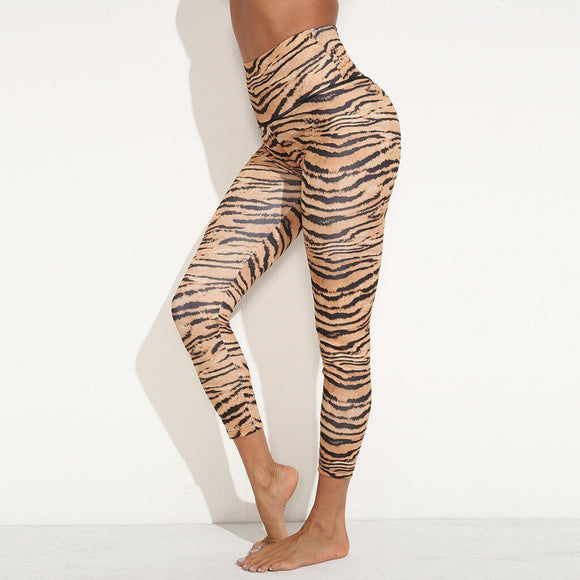 Women's Durable Squat Proof Leggings Yoga Casual Leopard Print High Waist Hollow Cross Sports Fitness Leggings Cute Sexy Yoga Pants
