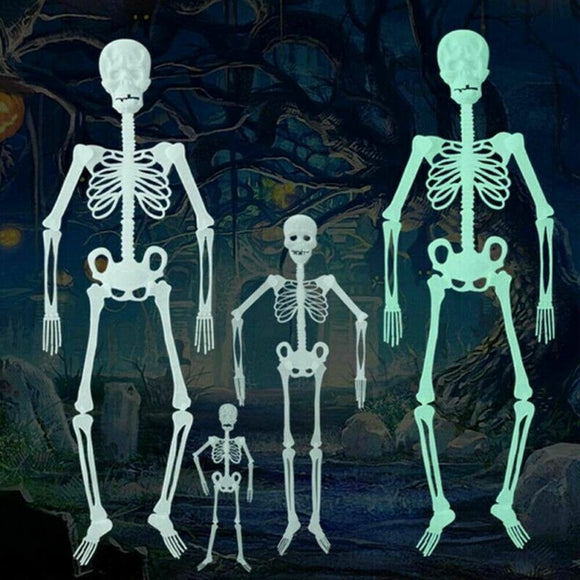 Glow In The Dark 2020 Newest Halloween Human Skeleton Frame Decor Halloween Props Luminous Hanging Decoration Outdoor Party Decorate Your Lawn