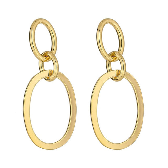 Minimalist Round Hollow Dangle Earrings Charm Gold Metal Texture Earrings for Women Pendientes Mujer Moda Gala Gift 2020
