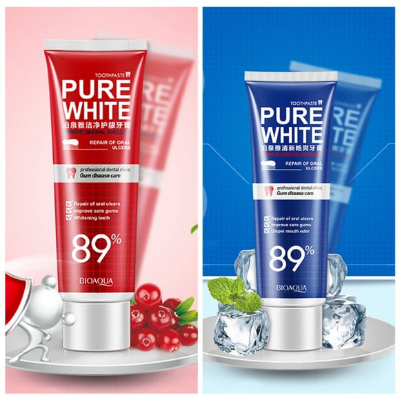 Whitening Teeth Toothpaste Cranberry/Mint Care Gum Toothpaste Prevent Cavity Whitening Remove Tooth Stains Dental Cleaning Care