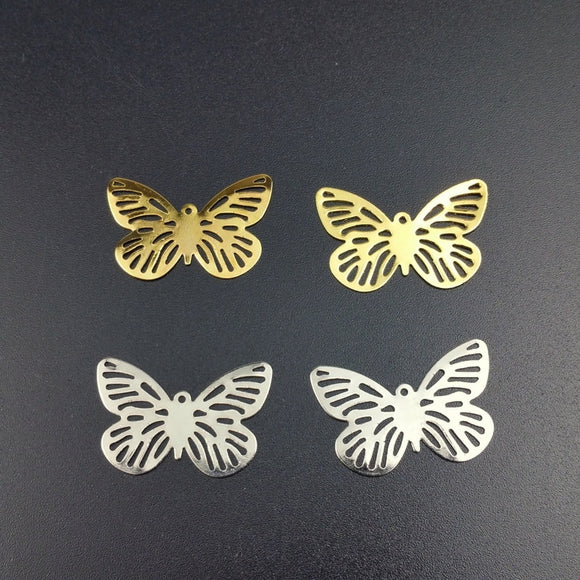 Beautiful Beads DIY 20Pcs 18x28mm Filigree   butterfly Connectors Metal Crafts Gift Decoration DIY Findings