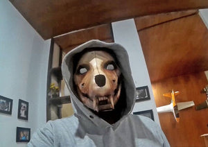 Scary 3d Paper Mask Halloween fashion wolf pistolas arma de fuego papercraft  model Mask Animal Costume For Photos or Video Cosplay Paper Craft Model