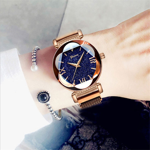 Gorgeous Stainless Steel Unique & Pretty Luxury Casual Women Watches Magnet Band Female Clock Sky Star Quartz Wristwatch relogio feminino