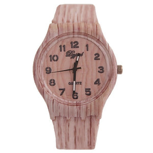 Unisex Wood Watch Pattern Party Fashion Dial Khaki and Travel Wrist Grain Quartz Daily Digital Office Round Gift Life
