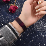 Trendy Unique New Women Fashion Steel Band Round Analog Quartz Wrist Complete Schedule Watch Bracelet Bangle Easy To Read