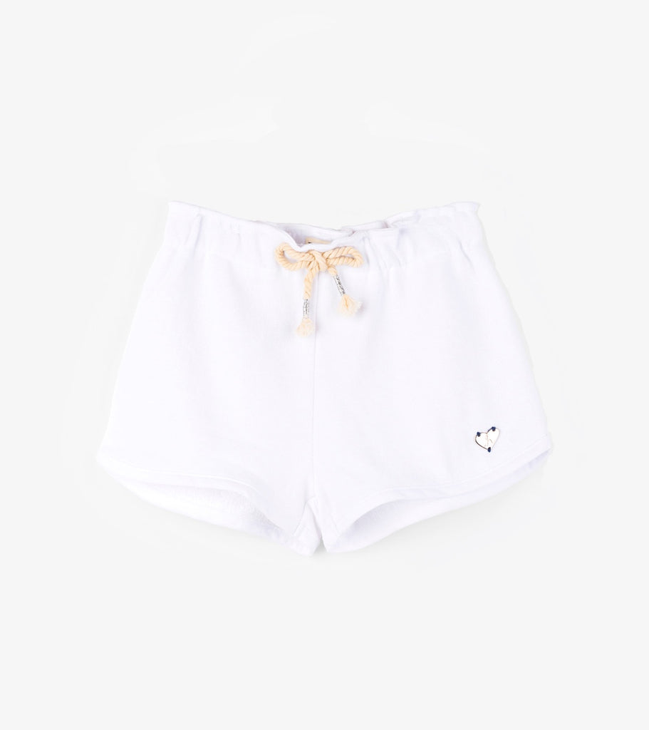 White French Terry Adventure Shorts