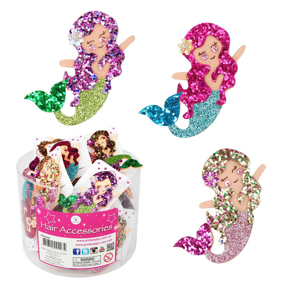 Under The Sea Mermaid Hair Clips In Tub