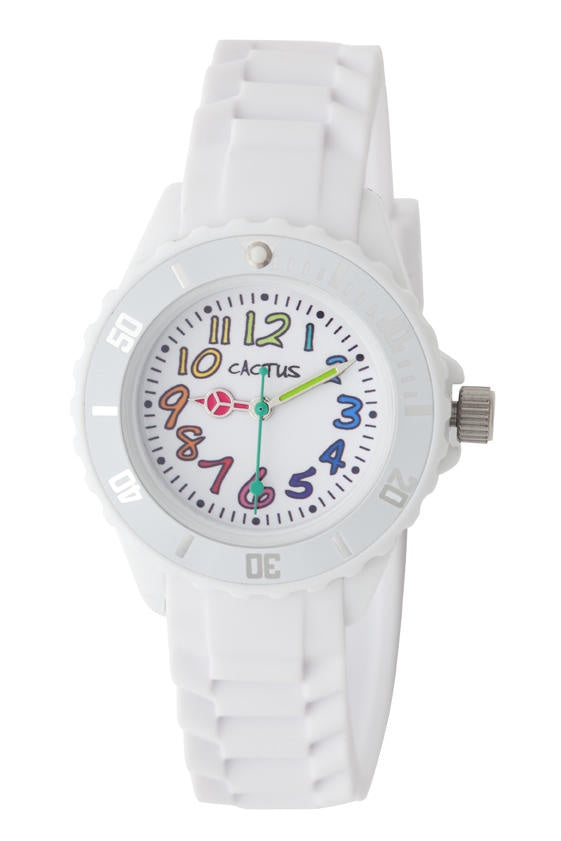 Cactus Watch White/Rainbow 30M
