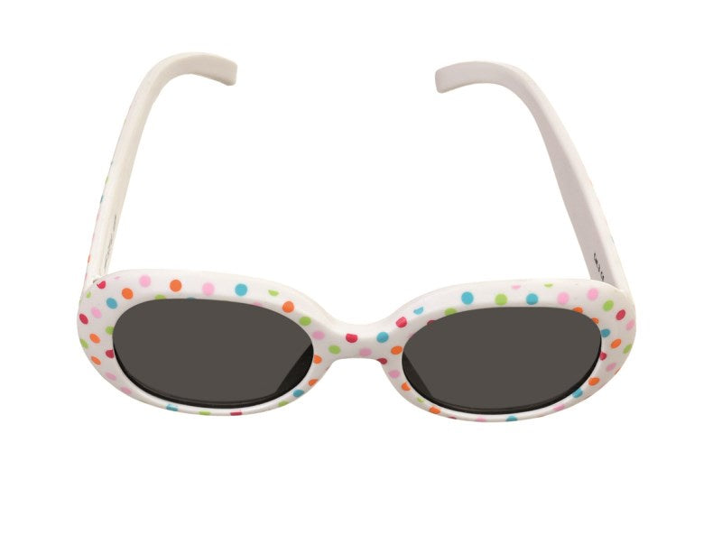 BABY STRAP SUNGLASSES WHITE DOTS