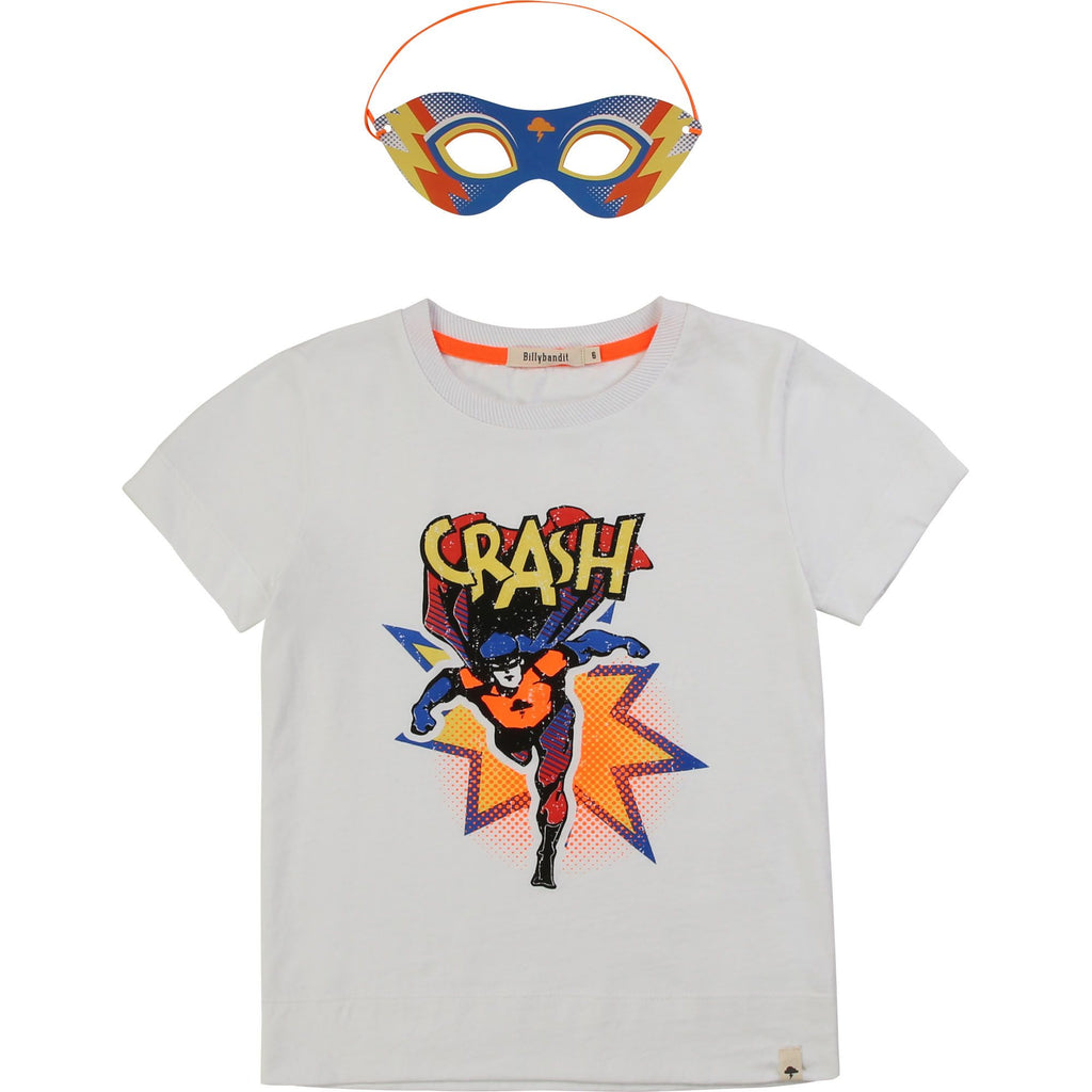 T-SHIRT HERO CRASH & MASK WHITE