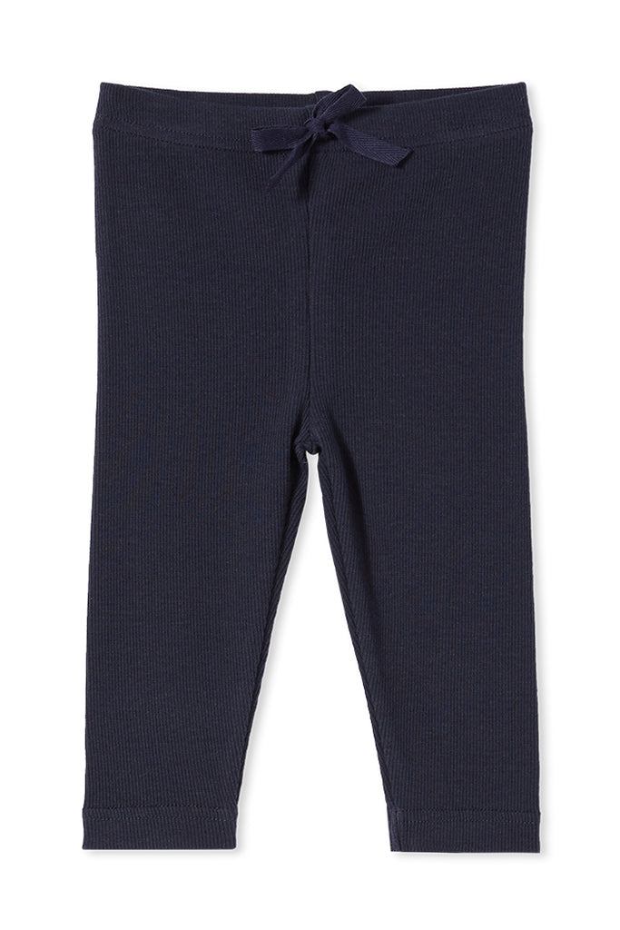 RIB BABY PANTS FRENCH NAVY