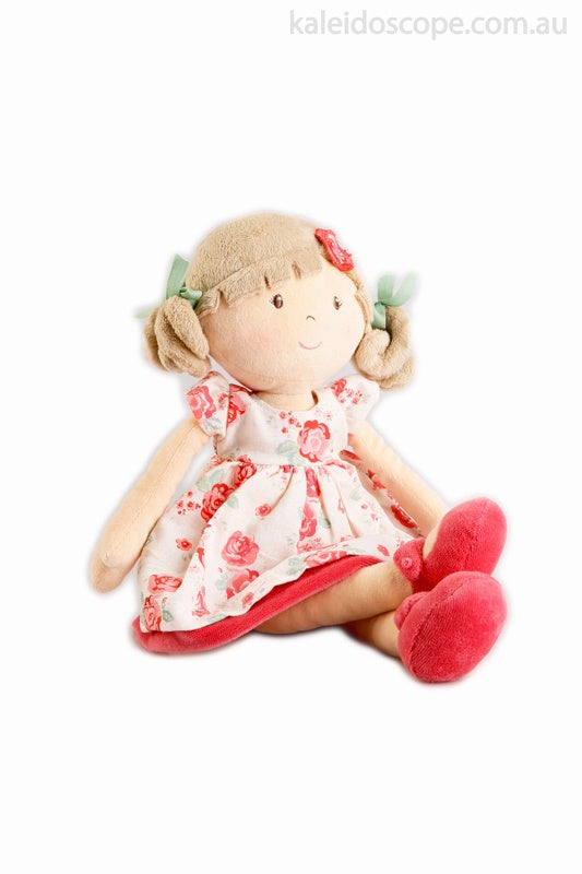 Scarlet Flower Kid Doll with Beige Bleach Hair