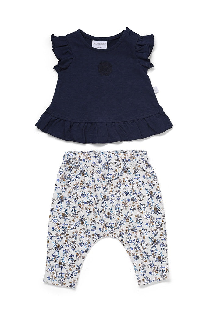 Top and Leggings  Navy/Floral