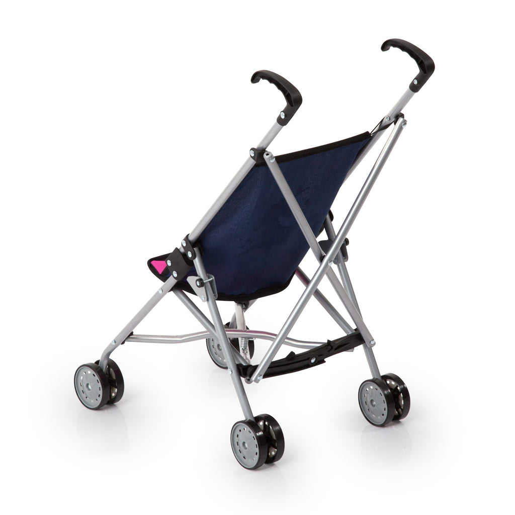 Doll Buggy Dark Blue with Unicorns