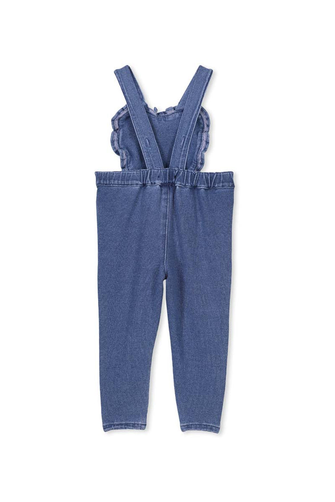 DENIM HEART OVERALL KNIT DENIM