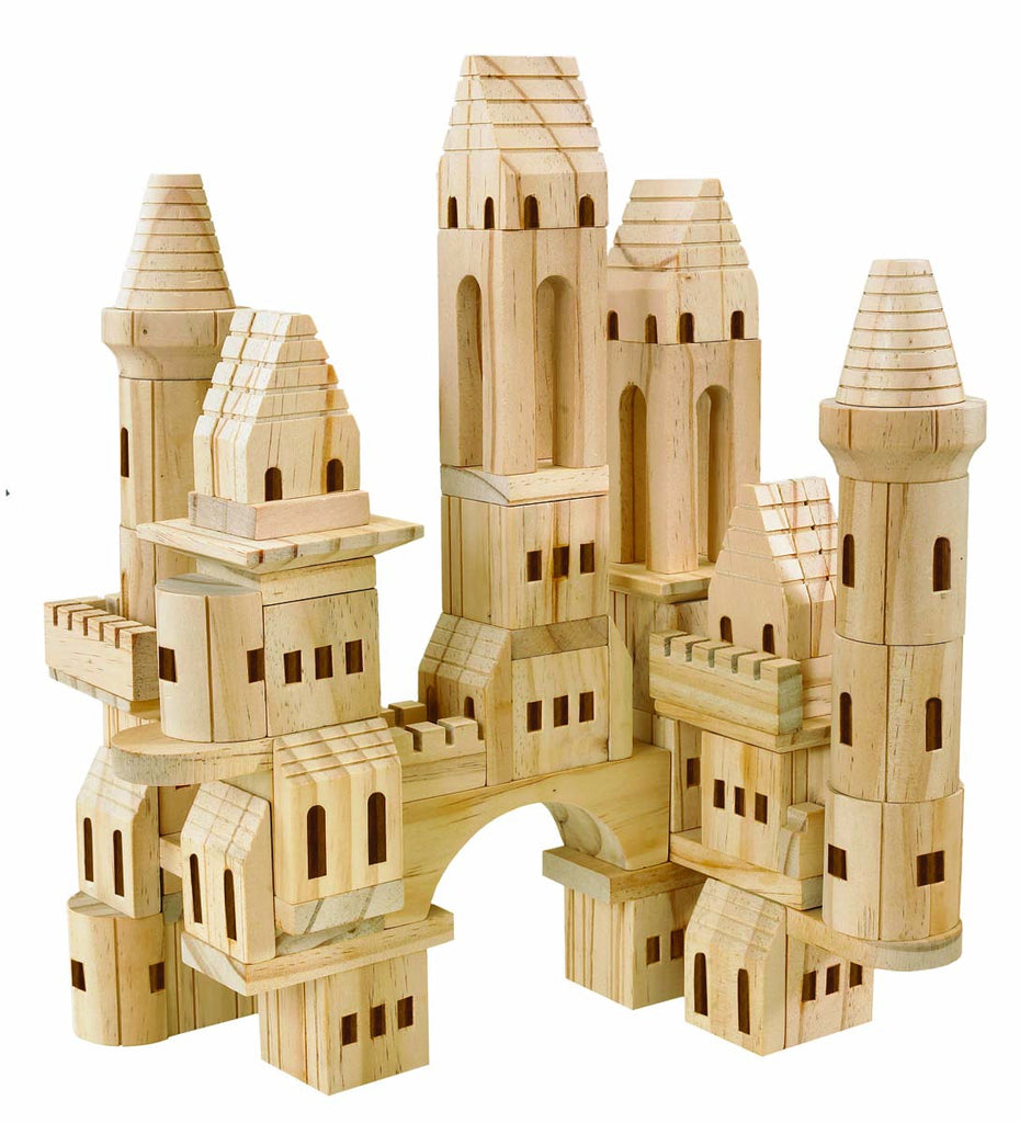 Toy Wood Castle Blocks 75pcs