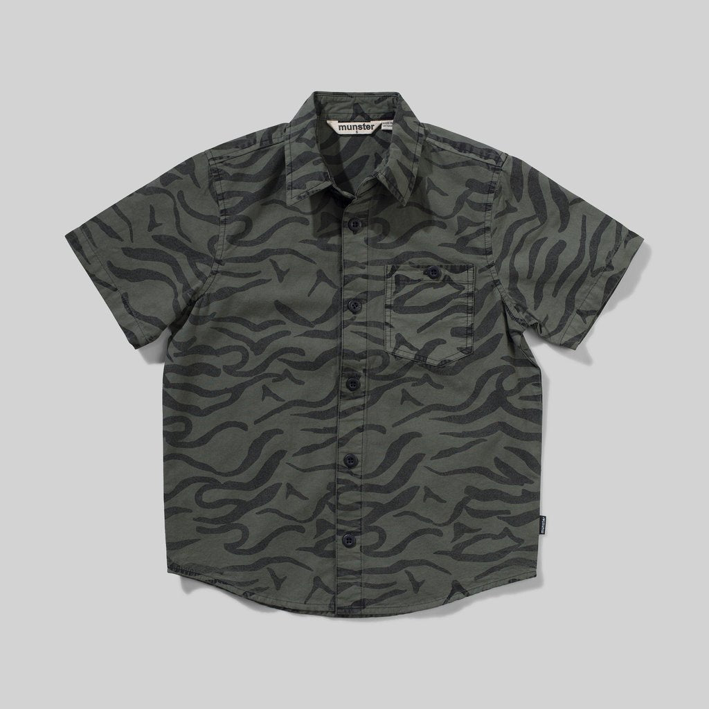 WAVE ANIMAL SHIRT - PIGMENT OLIVE