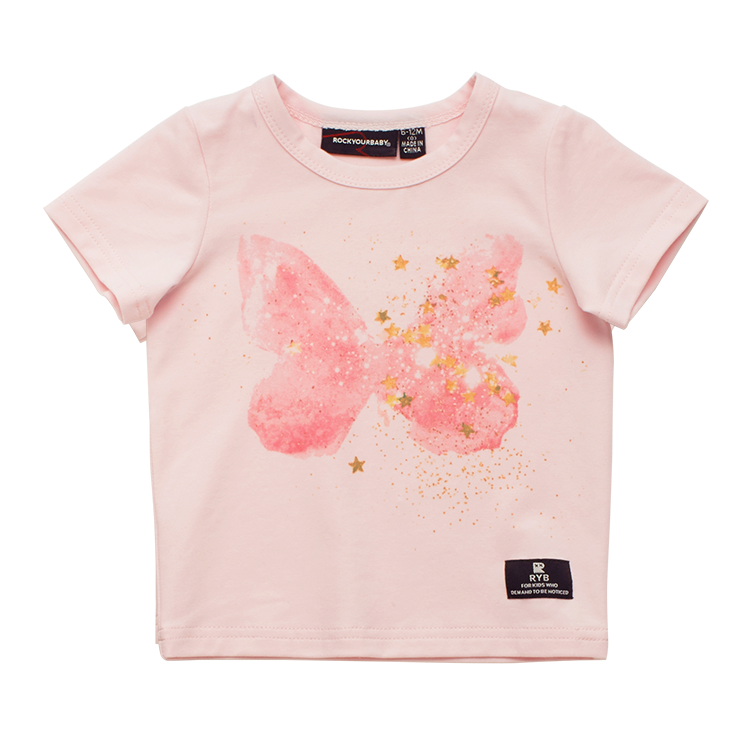 BUTTERFLY KISSES - BABY SS T-SHIRT