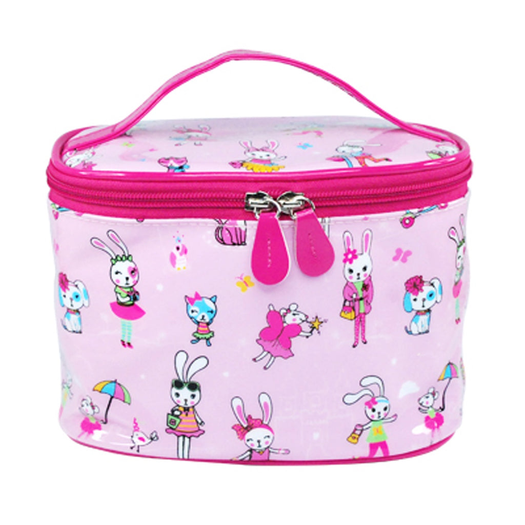 Cute little pets cosmetic bag-pale pink
