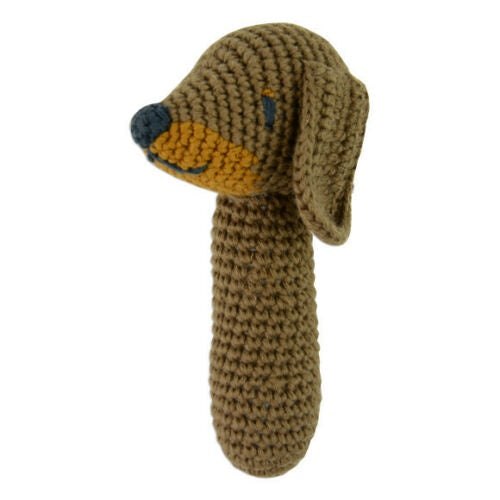 Crochet Rattle - Snags Sausage Dog