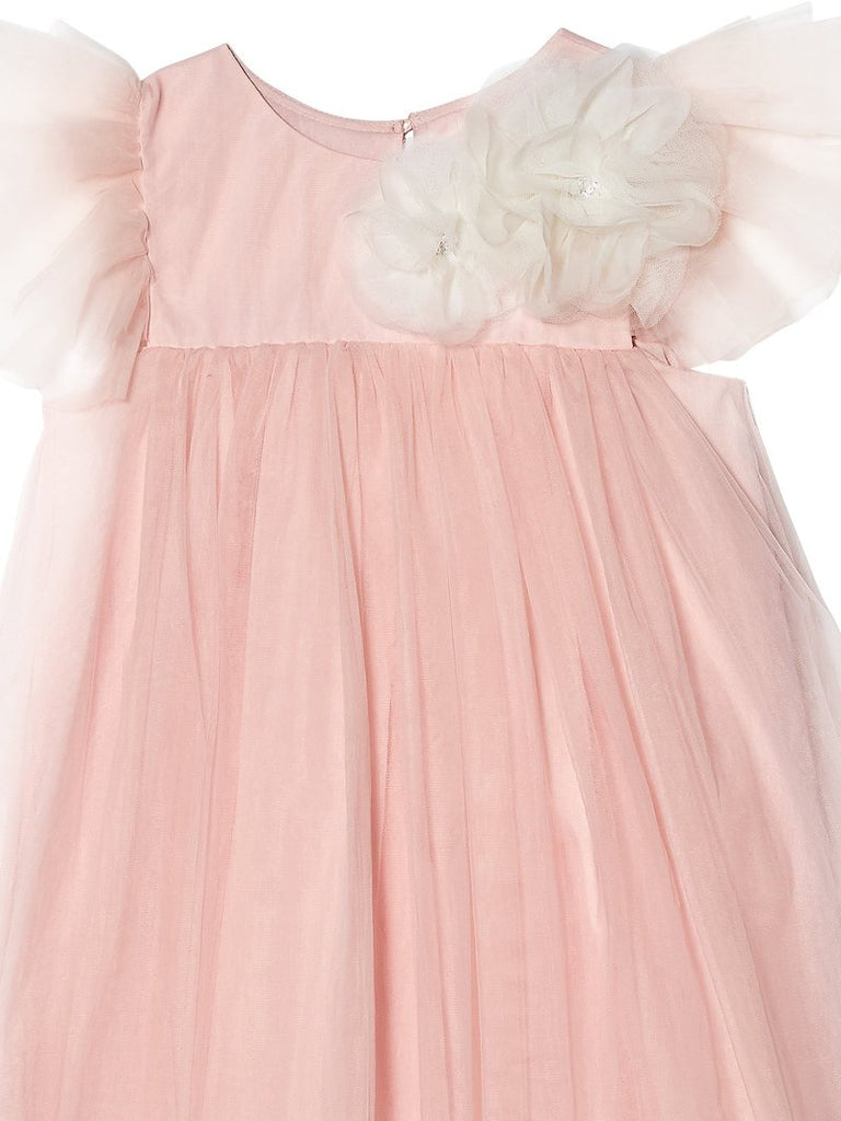 GARDENIA TULLE DRESS PINK CHABLIS