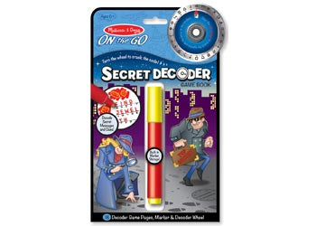 On The Go Secret Decoder Game Book