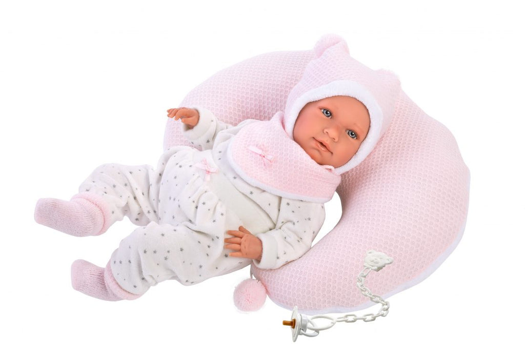 LLORENS BABY GIRL DOLL WITH BED