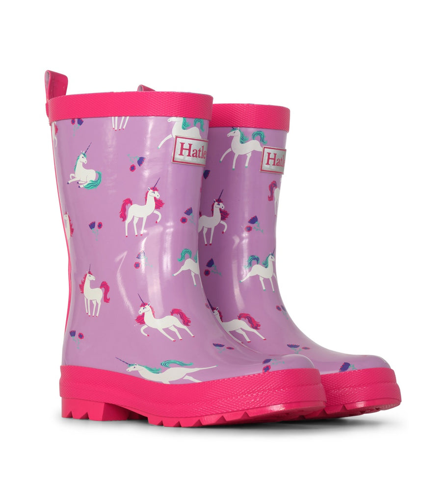 PLAYFUL UNICORN SHINY RAIN BOOTS