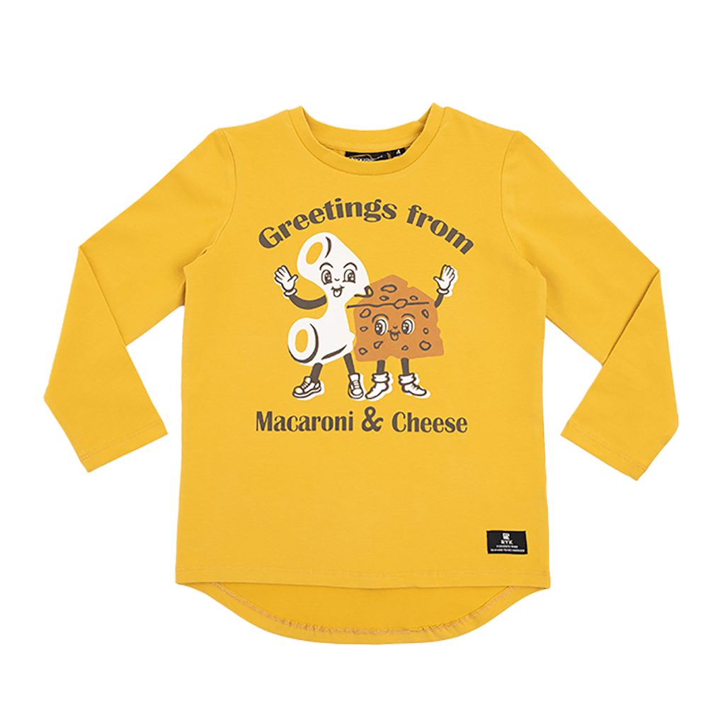 MAC & CHEESE - LS T-SHIRT MUSTARD