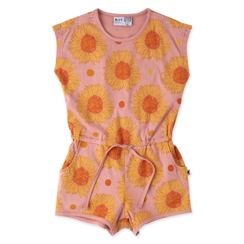 Friendly Sunflowers Playsuit - Rose