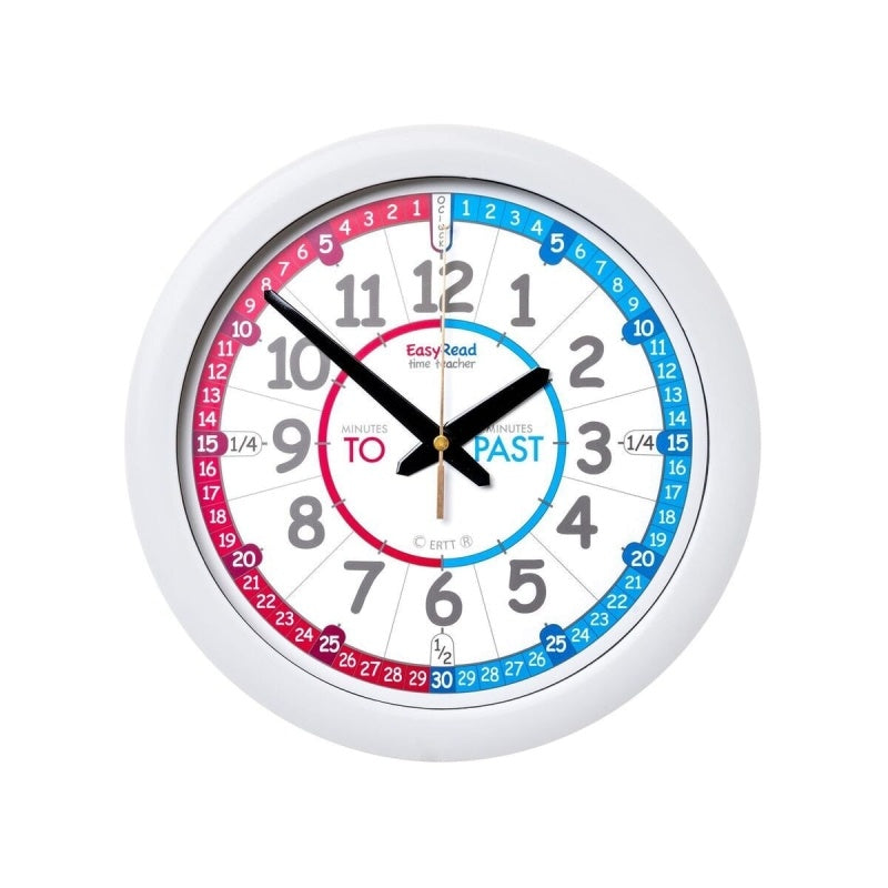 EasyRead Watch - Time Teacher Red/Blue Past/To Wall Clock
