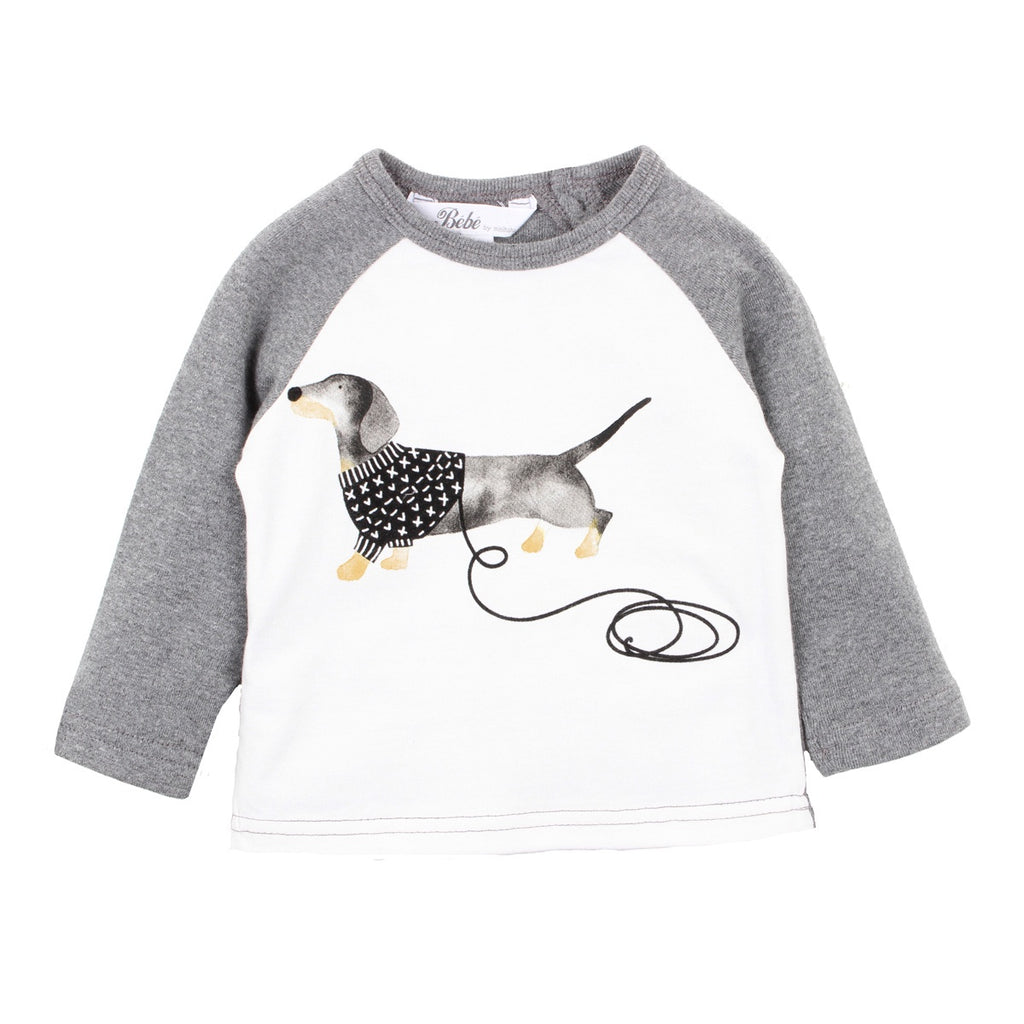 WILL DOG JUMPER TEE PEWTER
