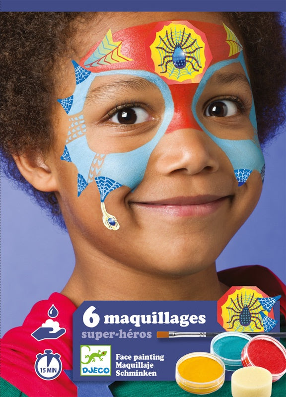 Face Paint Set Super Heroes