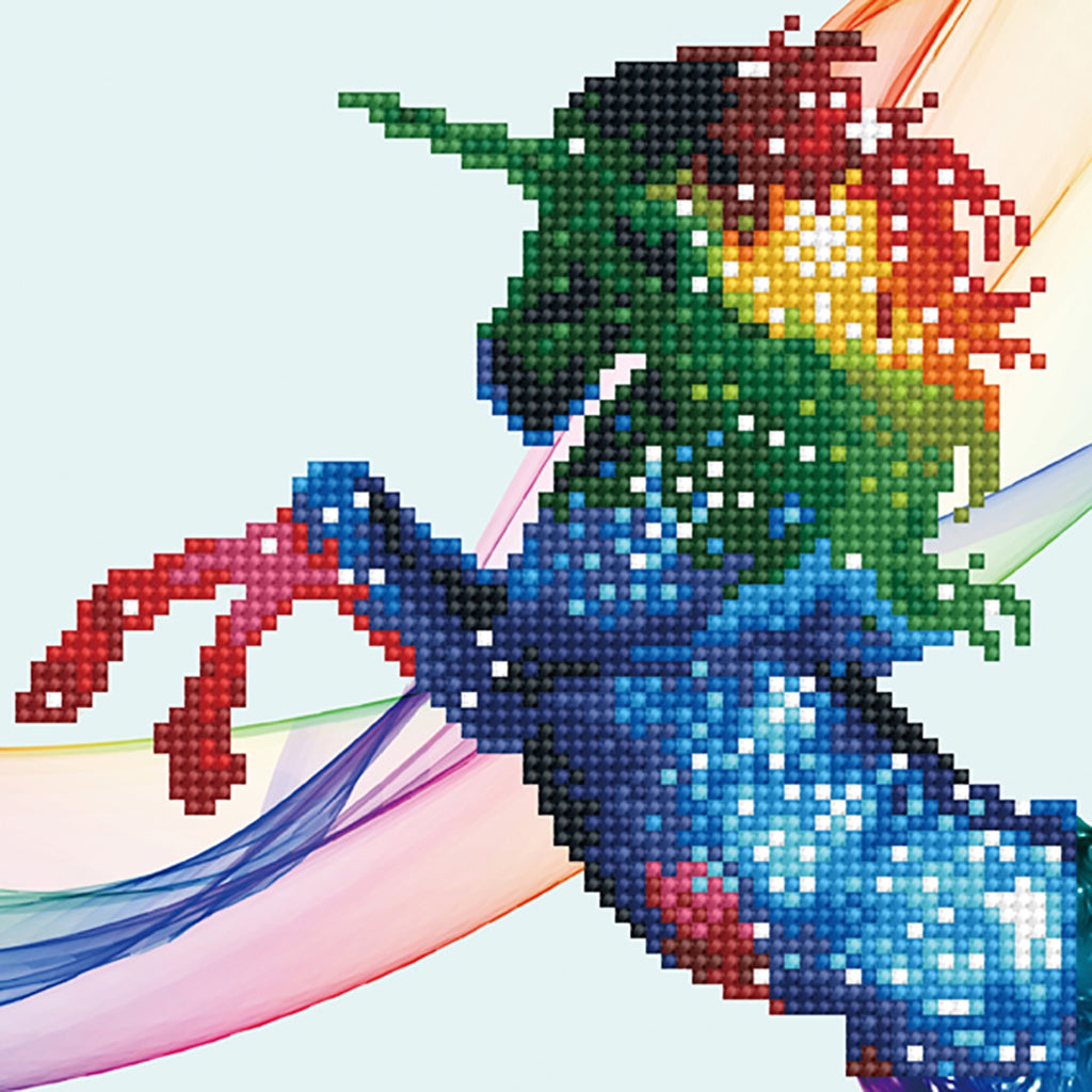 DIAMOND ART - RAINBOW OMBRE UNICORN