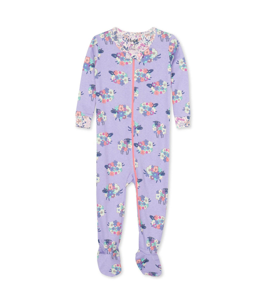 Counting Sheep Organic Cotton Footed Coverall